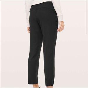 lululemon athletica Pants - Lululemon On The Fly Black Travel Woven Pants